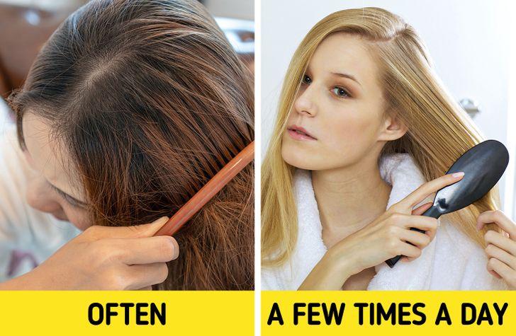 7 sai lầm khi chải khiến tóc hư tổn nặng nề - Hình 4