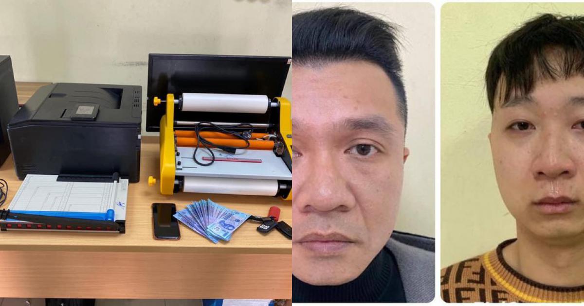 Bắt đối tượng sản xuất tiền giả bằng máy in màu