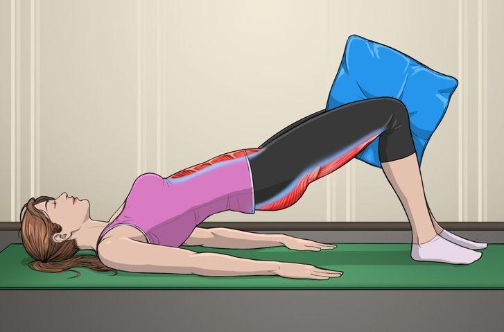 5 bài tập với gối giúp mông nở eo thon - Hình 2