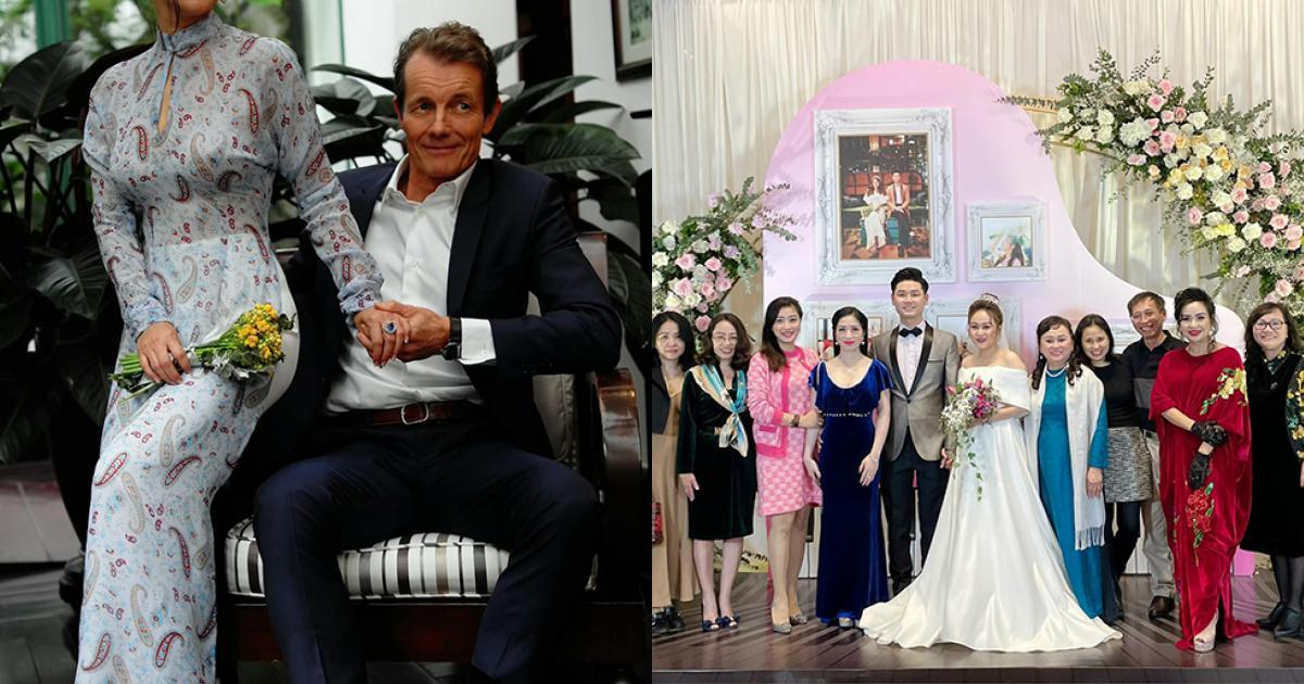 Hồng Nhung cùng bạn trai Tây dự cưới con gái Thanh Lam