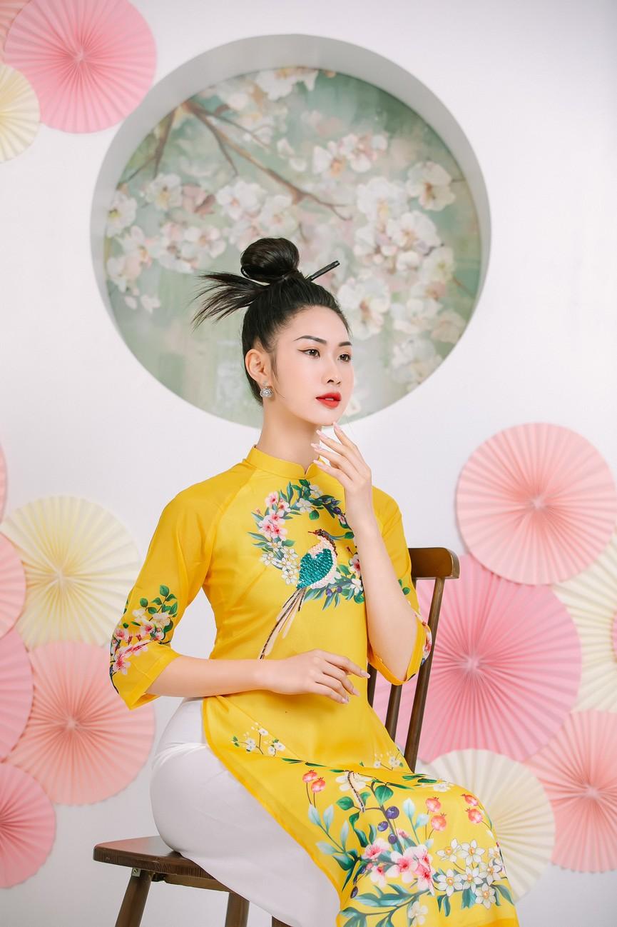 2 cô gái lọt Top 5 Người đẹp Thể thao HHVN 2020 'đọ sắc' với áo dài - Hình 7
