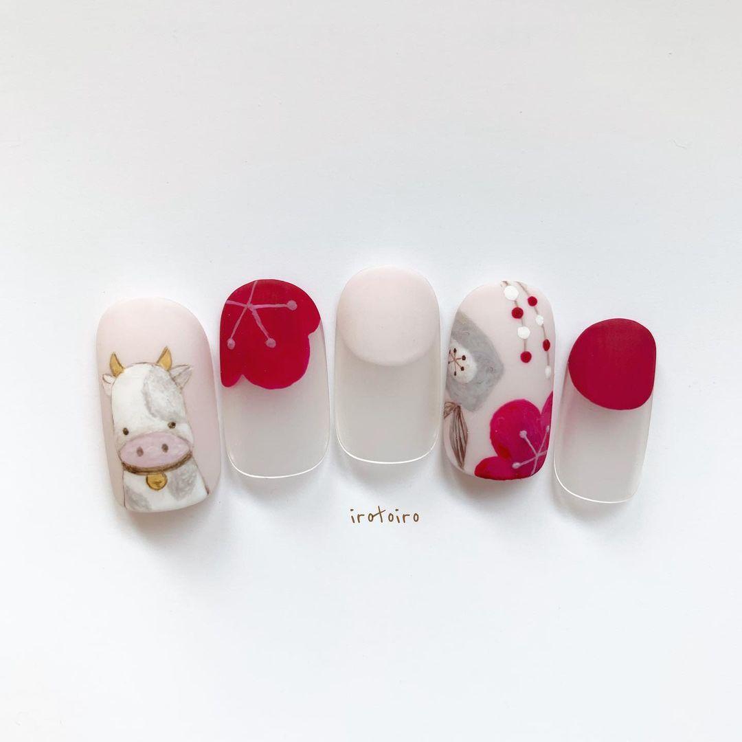 Gợi ý mẫu nails vừa đẹp vừa sang hợp với Tết Tân Sửu 2021 - Hình 11