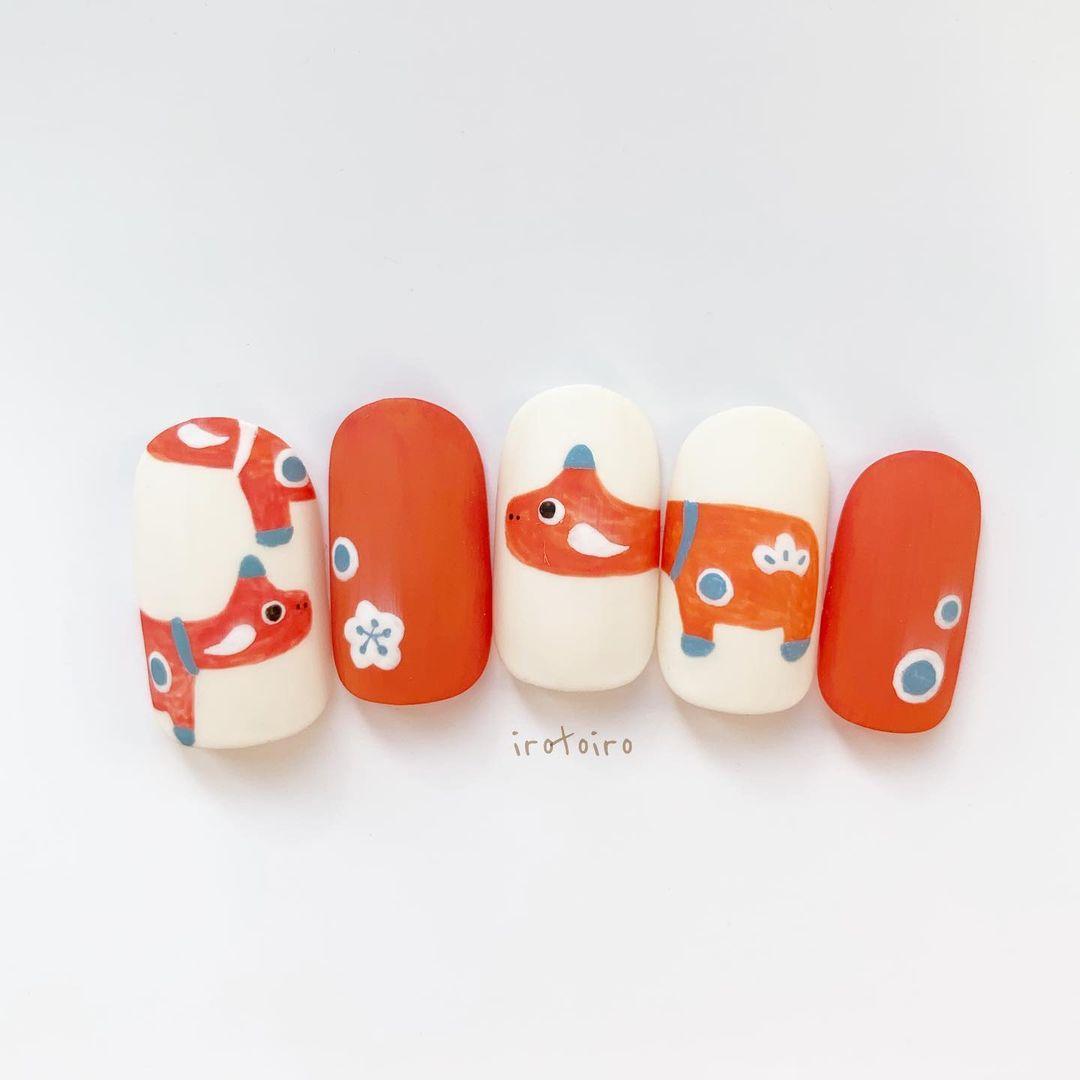 Gợi ý mẫu nails vừa đẹp vừa sang hợp với Tết Tân Sửu 2021 - Hình 2