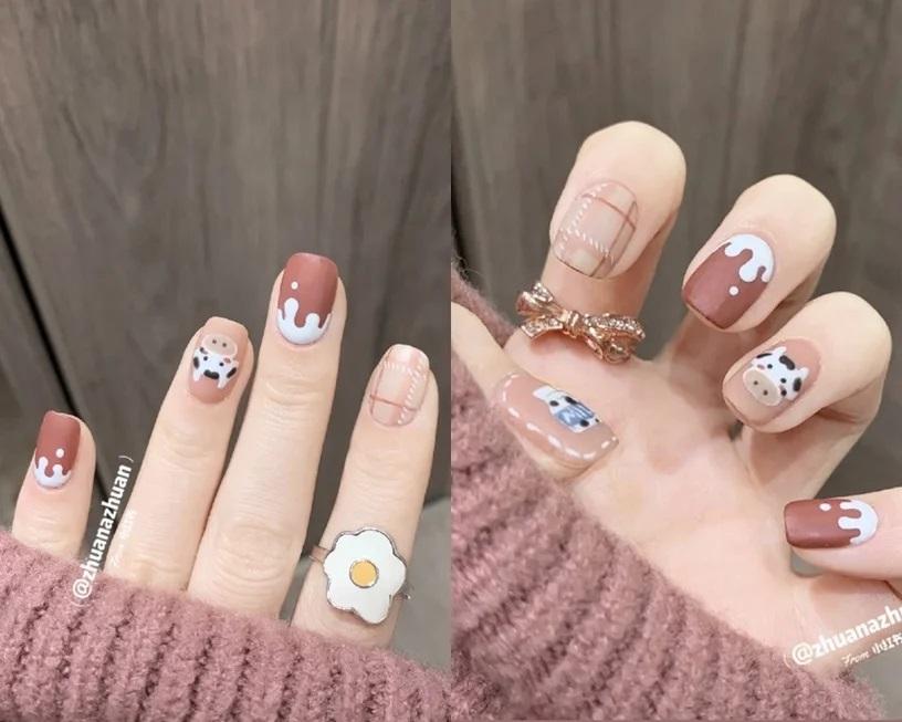Gợi ý mẫu nails vừa đẹp vừa sang hợp với Tết Tân Sửu 2021 - Hình 10
