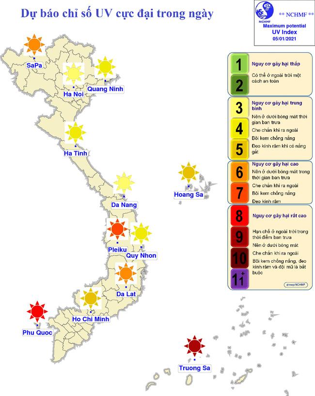 Đừng tưởng mùa đông là đỡ bị nắng xiên hỏng da, miền Bắc đang có chỉ số tia cực tím gây hại cao, nhắc bạn cần làm việc này ngay! - Hình 2