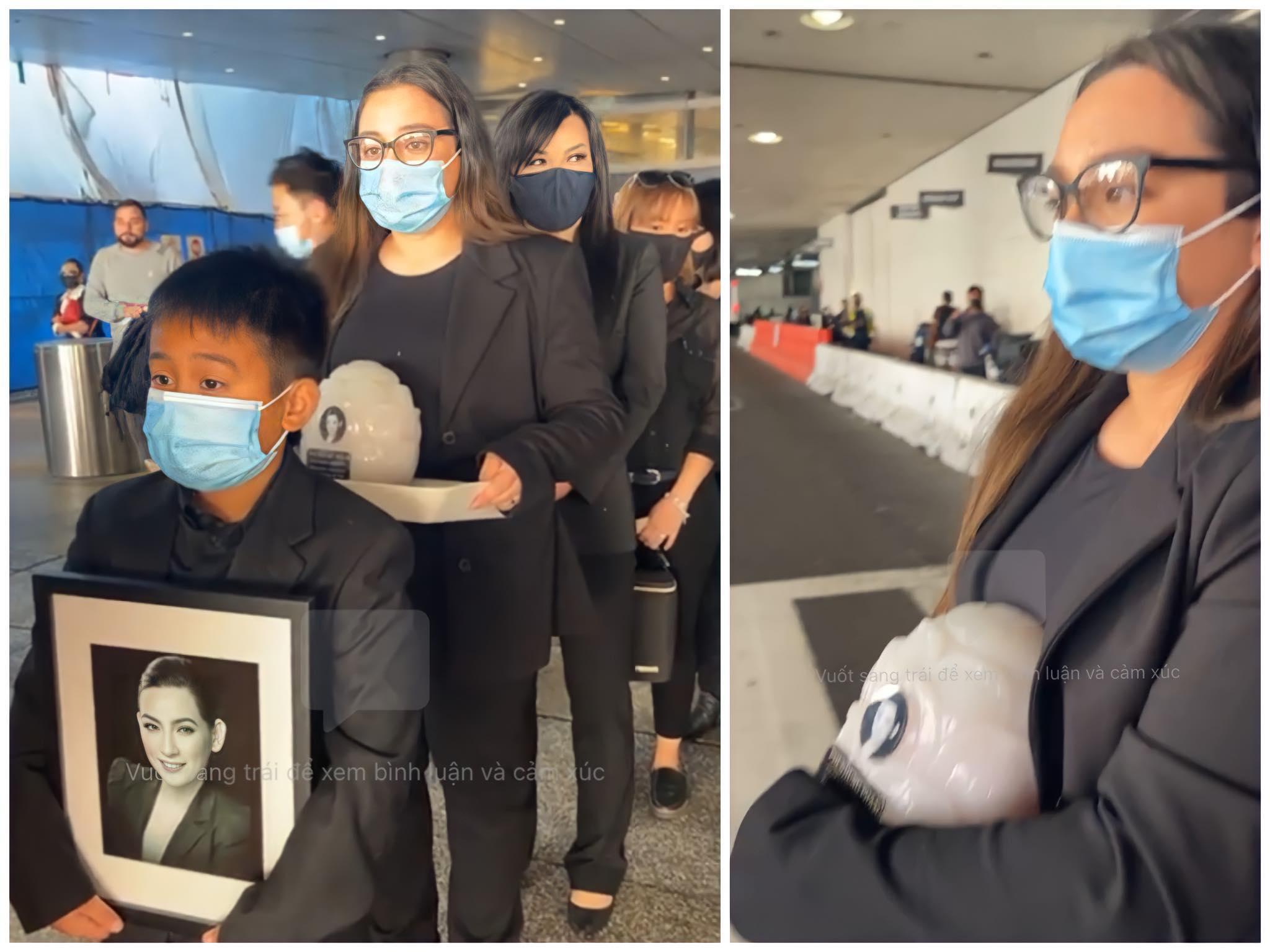 Việt Hương khóc trạo tro cốt Phi Nhung cho con gái - Hình 1