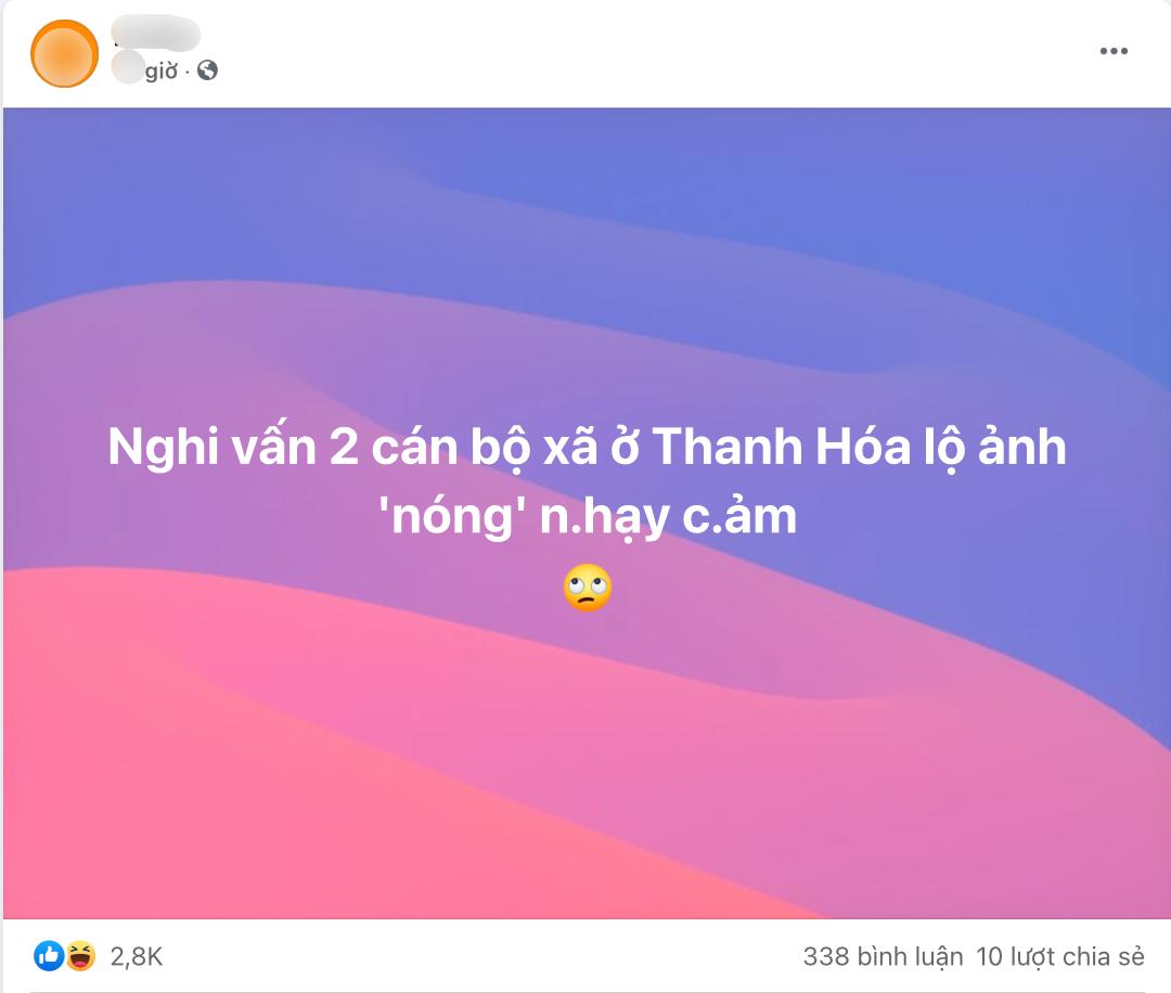 Sự thật việc 2 cán bộ xã ở Thanh Hoá lộ ảnh 3 chữ X: Đều đã có gia đình êm ấm, sự nghiệp ổn định - Hình 1
