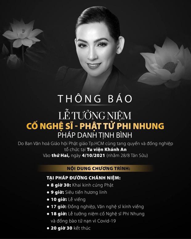 Phía cố ca sĩ Phi Nhung thông báo hoãn lễ tưởng niệm ngày 4/10, lý do là gì? - Hình 2