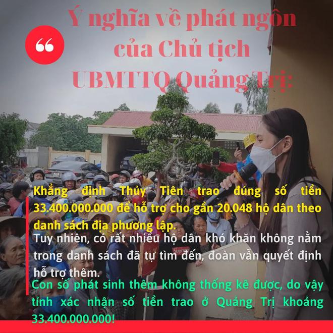Phía Thuỷ Tiên làm rõ lý do không thống kê được chính xác số tiền từ thiện ở Quảng Trị? - Hình 3