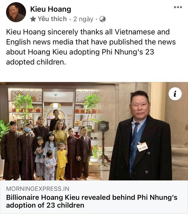 Sau đề nghị xấu hổ xin anh 10 triệu đô của bà Phương Hằng để nuôi 23 người con NS Phi Nhung, tỷ phú Hoàng Kiều có động thái lạ? - Hình 4
