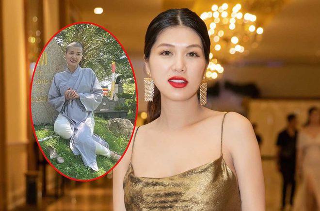 Hoa hậu 6 con Oanh Yến gây sốc khi cạo trọc đầu - Hình 1