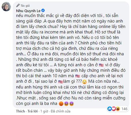 Hoàng Anh tố vợ cũ ăn chặn trợ cấp Covid-19, Quỳnh Như viết văn tế chồng - Hình 5