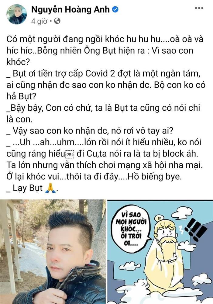 Hoàng Anh tố vợ cũ ăn chặn trợ cấp Covid-19, Quỳnh Như viết văn tế chồng - Hình 2