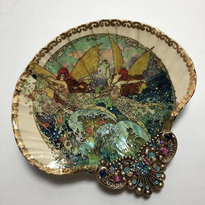 Mê mẩn ngắm nhìn loạt đồ trang sức độc đáo làm từ vỏ sò - Hình 7