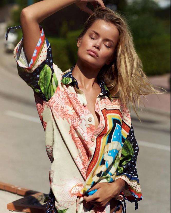 Người đẹp Na Uy Frida Aasen quyến rũ ở bờ biển thiên đường - Hình 4