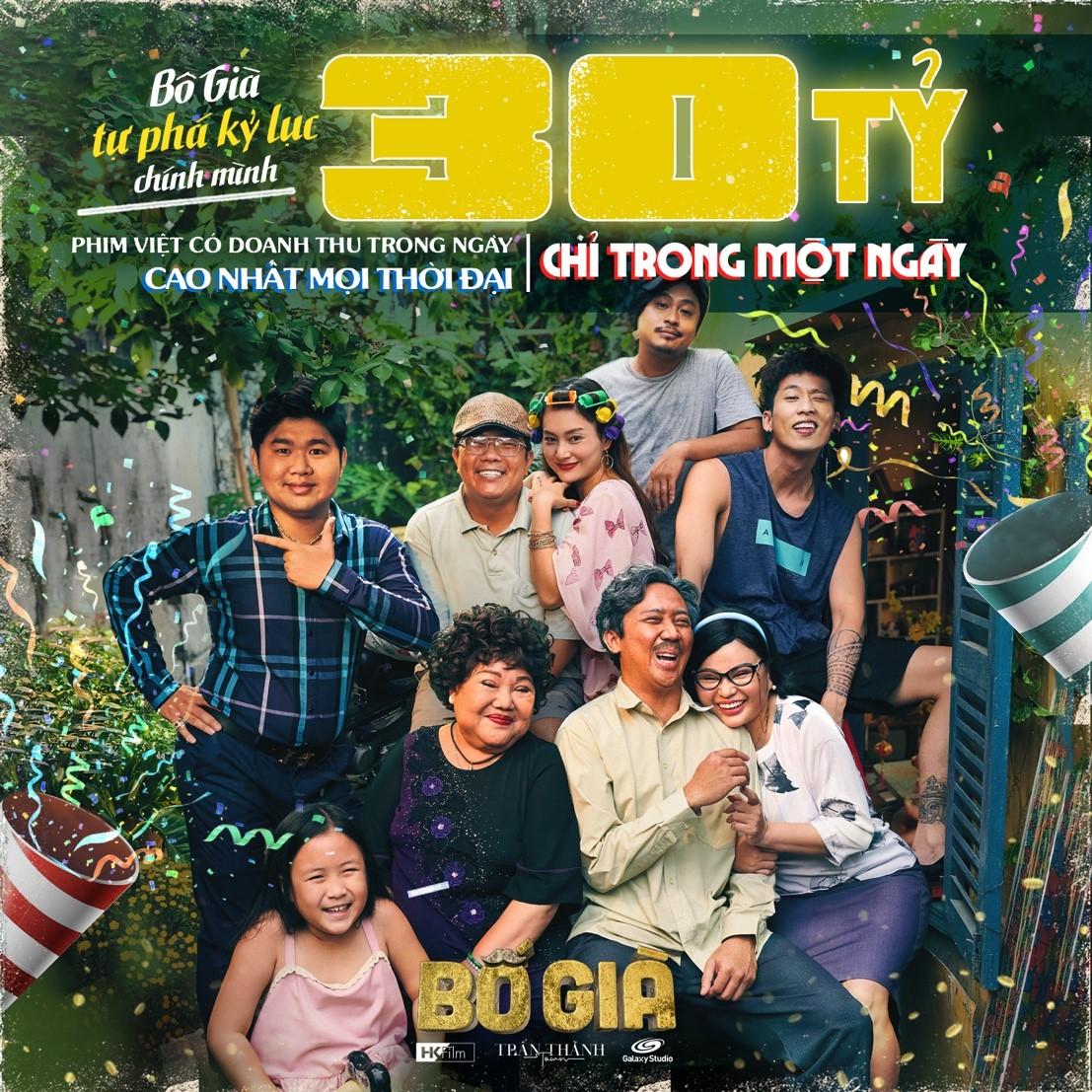 Ngày chiếu sớm thứ hai, Bố Già thu về 30 tỷ - tự phá vỡ kỷ lục phòng vé của chính mình, tiếp tục nắm giữ ngôi vương phim Việt - Hình 1