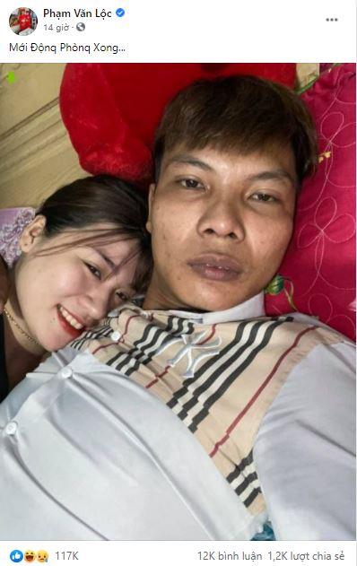 Lộc Fuho khoe ảnh động phòng: Chú rể bơ phờ còn cô dâu tươi cười như hoa - Hình 4