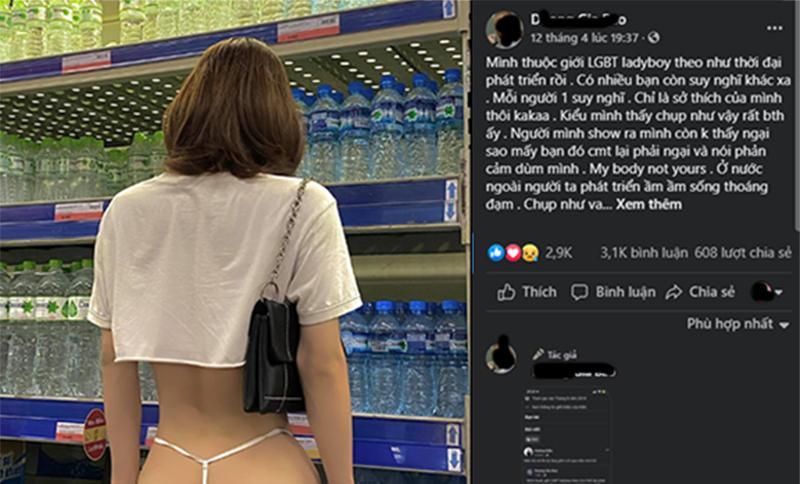 Đi siêu thị, cô gái tóc vàng gây bão khi tụt quần khoe trọn vòng 3: Mình không ngại thì sao mấy bạn phải ngại giùm? - Hình 3