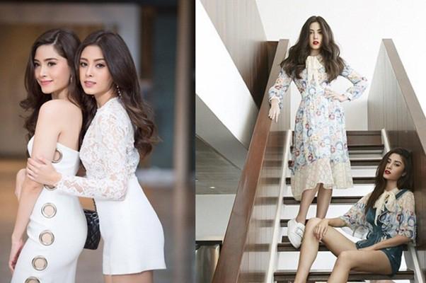Cặp song sinh nổi tiếng Thái Lan ăn mặc cực sang chảnh - Hình 1