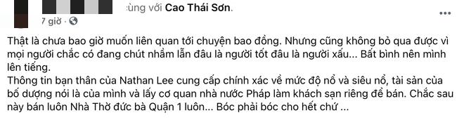 Bị bạn Cao Thái Sơn tố nhận vơ Toà thị chính Paris là khách sạn 2500 tỷ nhà mình, Nathan Lee lên tiếng và tuyên bố kiện ngược - Hình 1