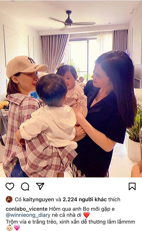 2 nhóc tỳ hot nhất Vbiz hội ngộ: Con gái Đông Nhi nhìn chằm chằm anh Bo, Hoà Minzy có lời khen đặc biệt cho Winnie - Hình 1