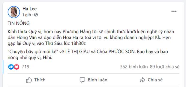 Động thái của NSND Hồng Vân lúc bị bà Phương Hằng tuyên bố khởi kiện, cách thức cao tay y như NS Hoài Linh? - Hình 3