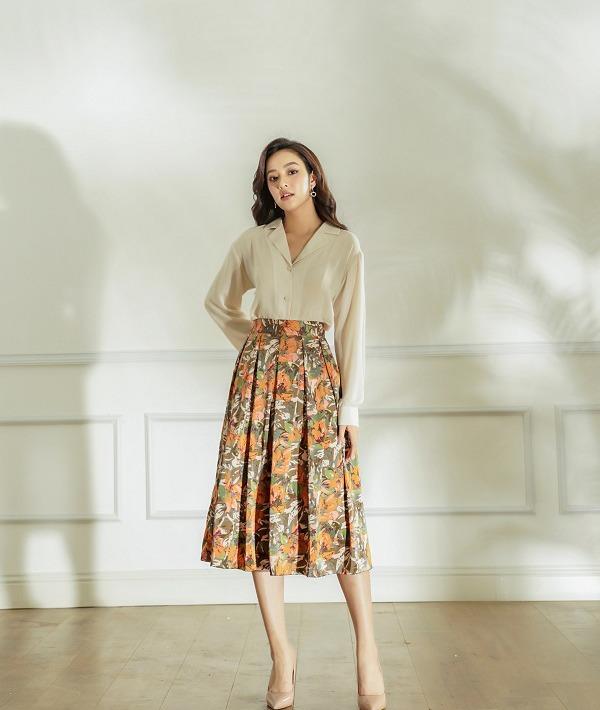 5 cách phối đồ siêu đẹp với chân váy hoa - Hình 11