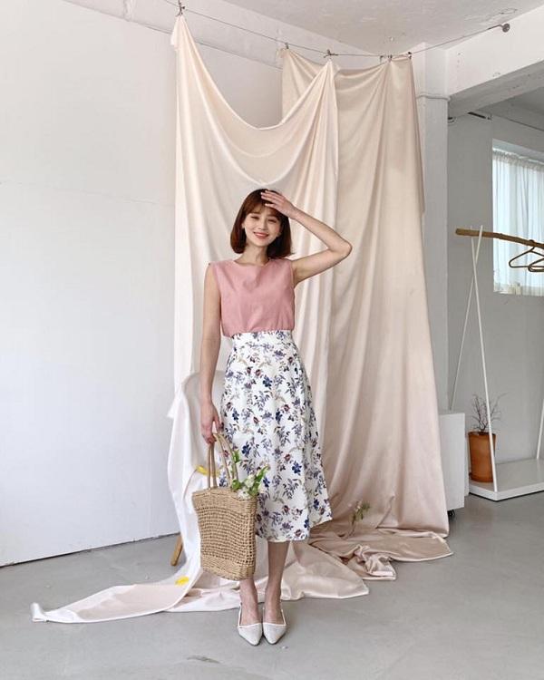 5 cách phối đồ siêu đẹp với chân váy hoa - Hình 6