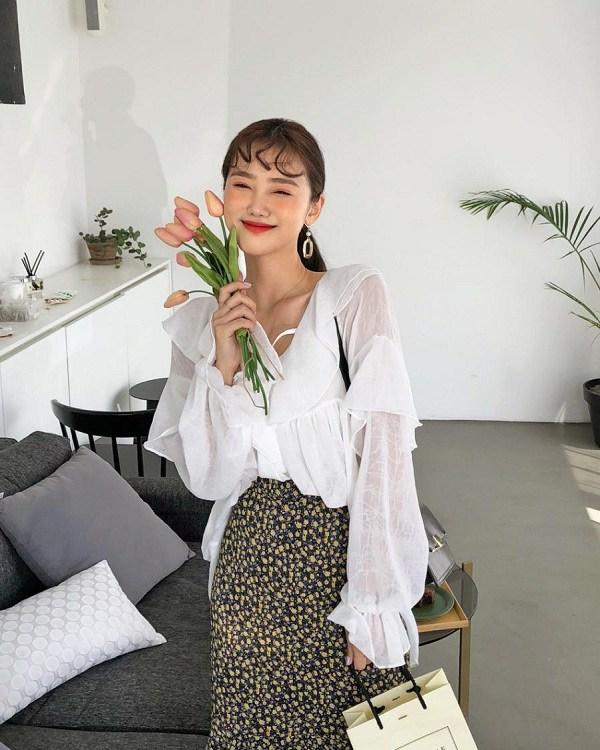 5 cách phối đồ siêu đẹp với chân váy hoa - Hình 13