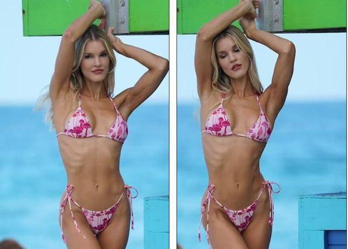Chân dài 9x phô thân hình nóng bỏng với bikini - Hình 3