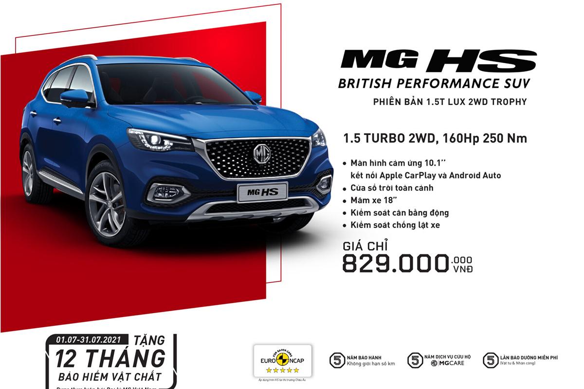 Bảng giá xe MG tháng 7/2021: Tất cả sản phẩm đều nhận được ưu đãi - Hình 4