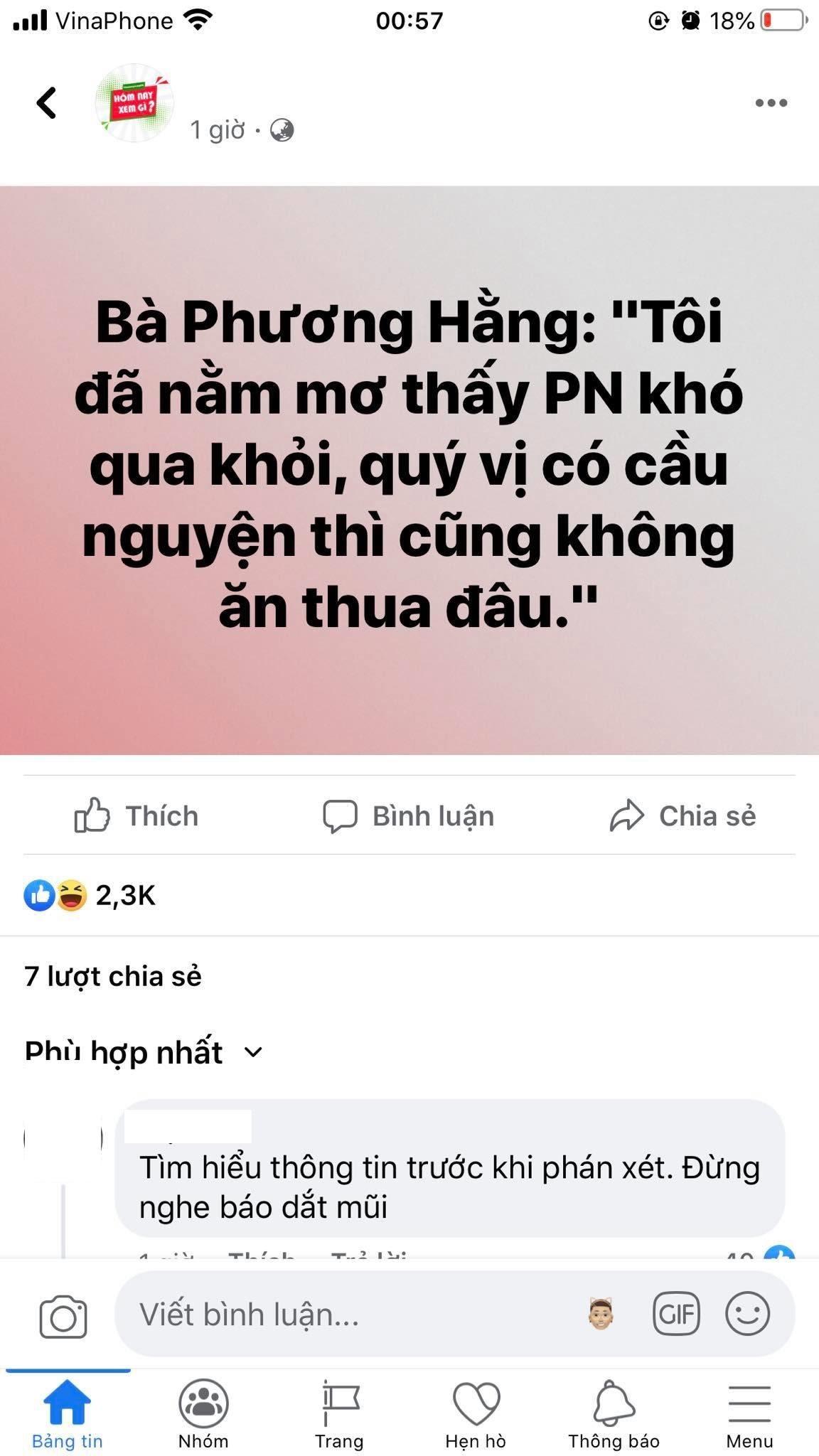Bà Phương Hằng lên tiếng vụ trù ẻo Phi Nhung qua đời: Nó đủ phước thì nó sống - Hình 1