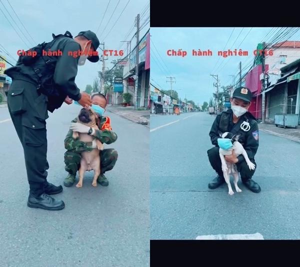 Clip 3 chú chó dành đồ ăn của cán bộ trực chốt và cái kết bị tóm - Hình 4