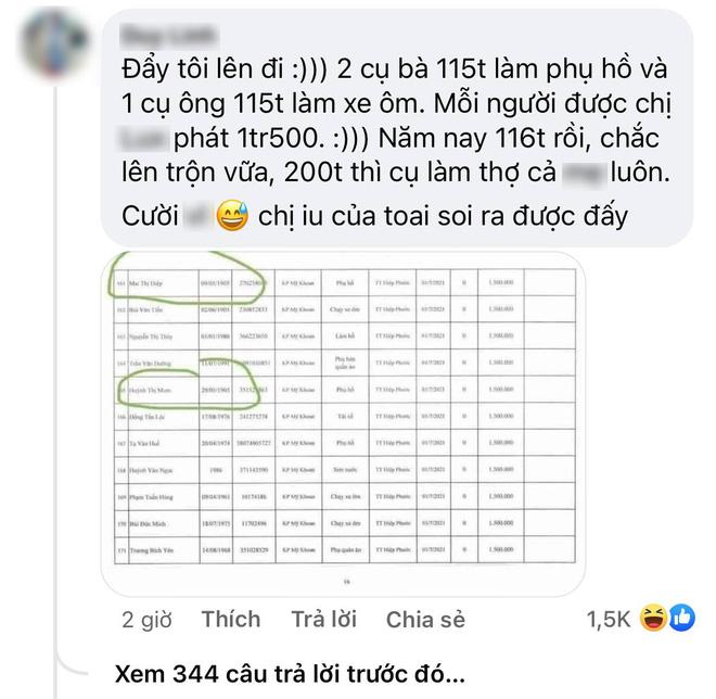Netizen soi chi tiết khó hiểu trong sao kê của Thuỷ Tiên: 2 cụ già 116 tuổi vẫn được nhận 1,5 triệu tiền trợ cấp? - Hình 1