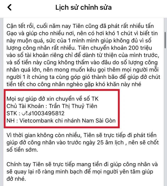 Netizen soi Thuỷ Tiên sử dụng 3 số tài khoản ngân hàng kêu gọi từ thiện nhưng chỉ sao kê 1, thực hư là gì? - Hình 4